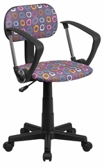 Multi-Colored Pattern Printed Computer Chair - BT-FL-A-GG