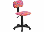 Multi-Colored Swirl Printed Pink Computer Chair - BT-OLY-GG
