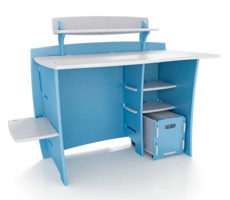 Multi-Pack Desk and Shelves and Cart - Legare Furniture - MPBM-210