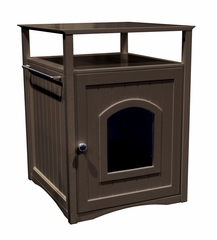 Multifunctional Cat Washroom / Night Stand Pet House in Espresso - Merry Products - MPS007