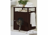 Multifunctional Cat Washroom / Night Stand Pet House in Walnut - Merry Products - MPS008