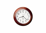 Murrow Radio Controlled Wall Clock in Cherry - Howard Miller