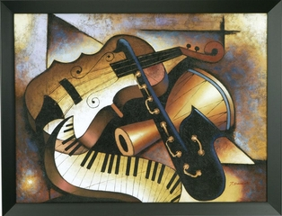 Music, Music, Music Framed Wall Art - 960370
