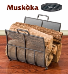 Muskoka Onyx Series Matte Black Log Rack - Greenway Home Products - MLR101