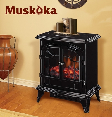 Muskoka Phoenix Electric Stove - Gloss Black - Greenway Home Products - MES30GB