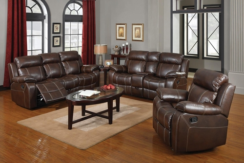 Myleene 3PC Brown Motion Sofa Set - 603021