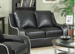 Myles Bonded Leather Loveseat - 504222