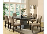 Myrtle Dining Table in Coffee and 6 Side Chairs - 103571