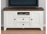"Nantucket Aged White 60"" TV Stand with Storage - 048-9"