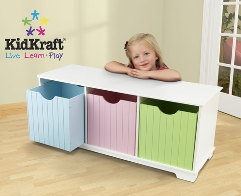 Nantucket Storage Bench in Pastel - KidKraft Furniture - 14565
