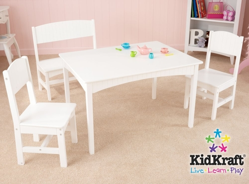 Nantucket Table with Bench and 2 Chair Set - KidKraft Furniture - 26110