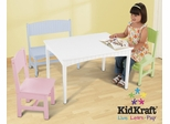 Nantucket Table with Bench and 2 Chairs in Pastel - KidKraft Furniture - 26112