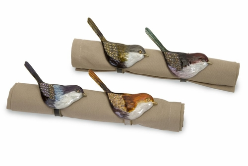 Napa Bird Napkin Holders (Set of 4) - IMAX - 27411-4