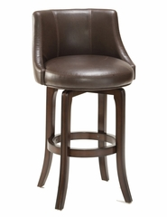 Napa Valley Swivel Bar Stool in Brown Leather - Hillsdale Furniture - 4294-831