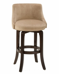 Napa Valley Swivel Bar Stool in Textured Khaki Fabric - Hillsdale Furniture - 4294-832