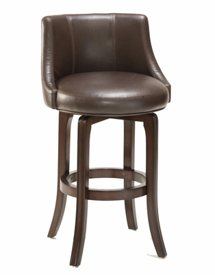 Napa Valley Swivel Counter Stool in Brown Leather - Hillsdale Furniture - 4294-827