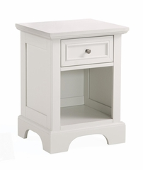 Naples Queen Size Headboard and Night Stand in White - Home Styles - 5530-5011