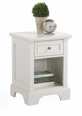 Naples Queen Size Headboard, Night Stand, and Drawer Chest in White - Home Styles - 5530-5012