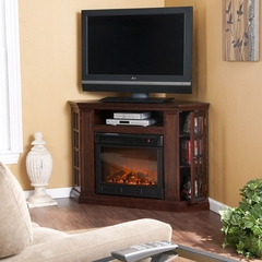 Narita Convertible Media Espresso Electric Fireplace - Holly and Martin