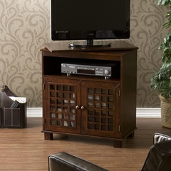 Narita Espresso Swivel Top Media Stand - Holly and Martin