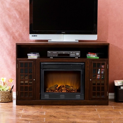 Narita Media Espresso Electric Fireplace - Holly and Martin