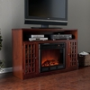 SEI Narita Media Mahogany Electric Fireplace