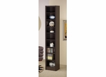Narrow Bookcase in Cappuccino - 800285