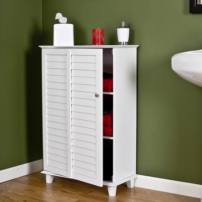 Nassau Louvered Towel Safe - White - Holly and Martin