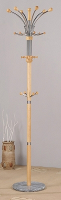 Natural Coat Rack with Marble Base - Nata - 12267