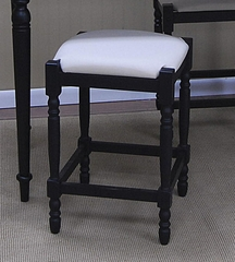 "Natural Duck 24"" Black Counter Stools - Carolina Chair - 2662-AB-ND"