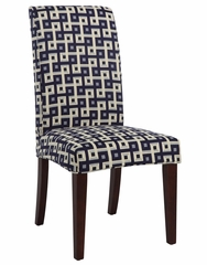 "Navy and Cream ""Slip Over"" (Fits 741-440 Chair) - Powell Furniture - 741-247Z"