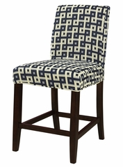 "Navy and Cream ""Slip Over"" for Counter Stool or Bar Stool - Powell Furniture - 742-247Z"