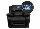 Nebraska at Kearney Lopers Embroidered Black Leather Rocker Recliner  - MEN-DA3439-91-BK-41088-EMB-GG