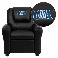 Nebraska at Kearney Lopers Embroidered Black Vinyl Kids Recliner - DG-ULT-KID-BK-41088-EMB-GG