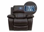 Nebraska at Kearney Lopers Leather Rocker Recliner - MEN-DA3439-91-BRN-41088-EMB-GG