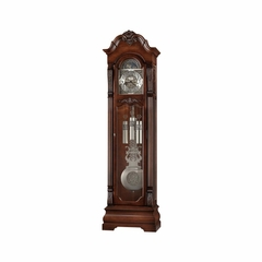 Neilson Grandfather Clock in Rustic Cherry - Howard Miller