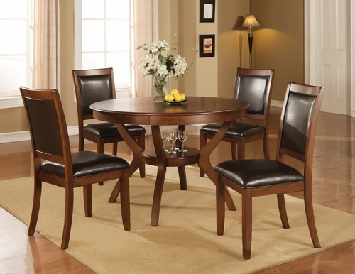 Nelms 5-Piece Dining Set in Brown Walnut - Coaster - 102171-2-DSET