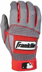 Neo Classic II Adult Batting Glove Grey / Red - Franklin Sports