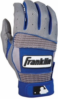 Neo Classic II Adult Batting Glove Grey / Royal - Franklin Sports