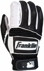 Neo Classic II Adult Batting Glove Pearl / Black / White - Franklin Sports