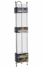 Nestable 52 DVD or Blu-Ray Tower in Gunmetal - Atlantic - 63712035