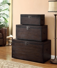 Nesting Storage Trunk Set in Coffee - 950200