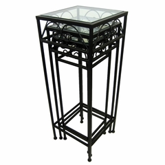 Nesting Tall Tables (Set of 3) - Pangaea Home and Garden Furniture - BT-IT001-K