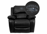 Nevada Wolfpack Leather Rocker Recliner - MEN-DA3439-91-BK-40026-EMB-GG