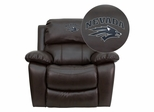 Nevada Wolfpack Leather Rocker Recliner - MEN-DA3439-91-BRN-40026-EMB-GG