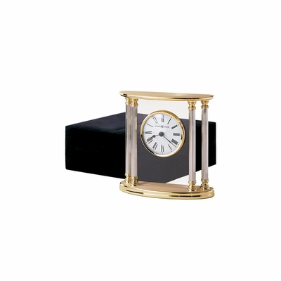 New Orleans Table Clock in Brass - Howard Miller