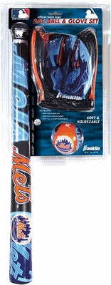 New York Mets MLB Soft Sport Bat, Ball & Glove Set - Franklin Sports