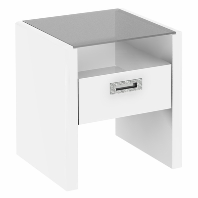 New York Skyline End Table in Plumeria White - Kathy Ireland