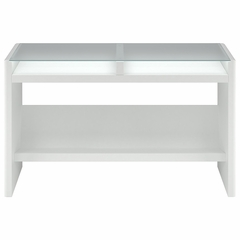 New York Skyline Laptop / Sofa Table in Plumeria White - Kathy Ireland