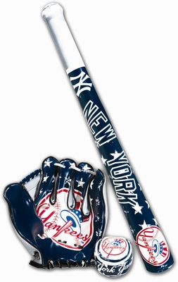 New York Yankees MLB Soft Sport Bat, Ball & Glove Set - Franklin Sports